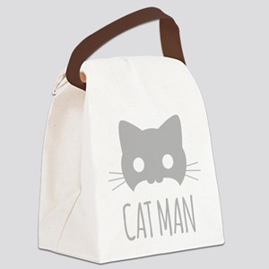 Cat Man Canvas Lunch Bag