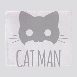 Cat Man Throw Blanket
