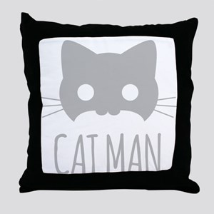 Cat Man Throw Pillow