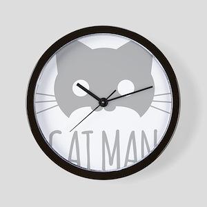Cat Man Wall Clock
