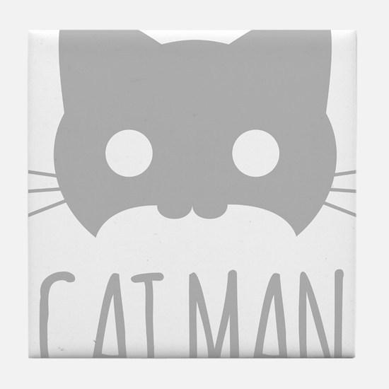 Cat Man Tile Coaster