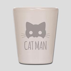 Cat Man Shot Glass