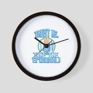 Take The Epidural Wall Clock