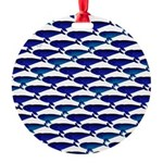 Bowhead Whale Pattern Ornament