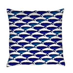 Bowhead Whale Pattern Everyday Pillow