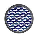 Bowhead Whale Pattern Wall Clock