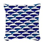 Bowhead Whale Pattern Woven Throw Pillow