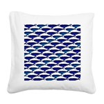Bowhead Whale Pattern Square Canvas Pillow