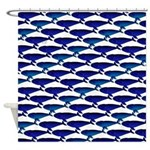 Bowhead Whale Pattern Shower Curtain