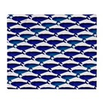 Bowhead Whale Pattern Throw Blanket