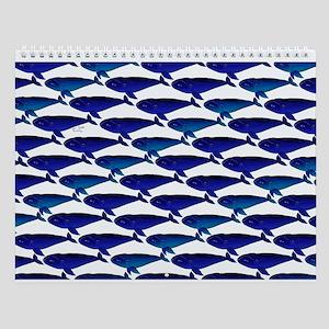Bowhead Whale Pattern Wall Calendar