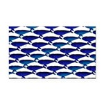 Bowhead Whale Pattern Rectangle Car Magnet