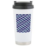 Bowhead Whale Pattern Travel Mug