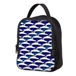 Bowhead Whale Pattern Neoprene Lunch Bag