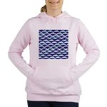Bowhead Whale Pattern Women's Hooded Sweatshirt