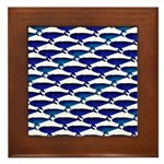Bowhead Whale Pattern Framed Tile