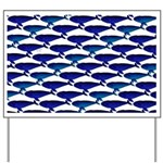 Bowhead Whale Pattern Yard Sign