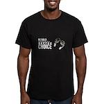 Adoption is better Men's Fitted T-Shirt (dark)