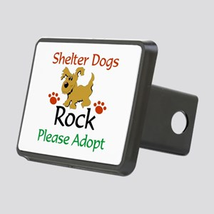 Shelter Dogs Rock Please Rectangular Hitch Cover