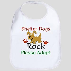 Shelter Dogs Rock Please Adopt Bib