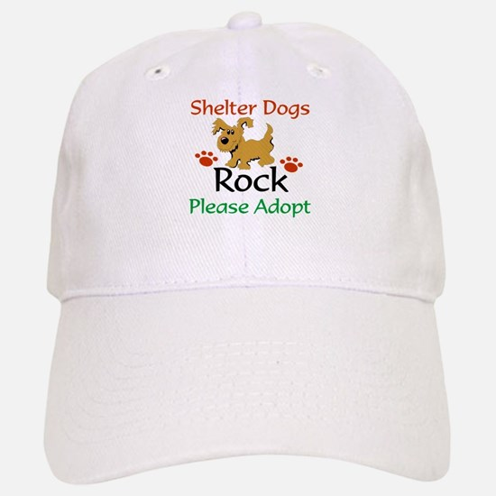 Shelter Dogs Rock Please Adopt Baseball Baseball Baseball Cap
