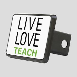 Live Love Teacher Rectangular Hitch Cover
