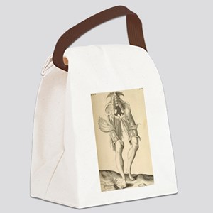 Leg Dissection Canvas Lunch Bag