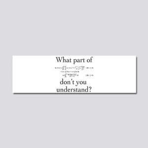 What Part of... Car Magnet 10 x 3
