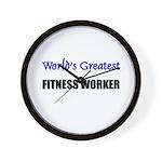 Worlds Greatest FITNESS WORKER Wall Clock