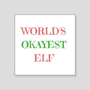 World's Okayest Elf Sticker