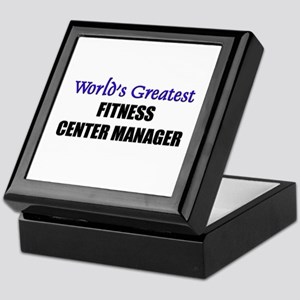 Worlds Greatest FITNESS CENTER MANAGER Tile Box