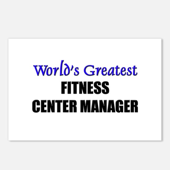 Worlds Greatest FITNESS CENTER MANAGER Postcards (