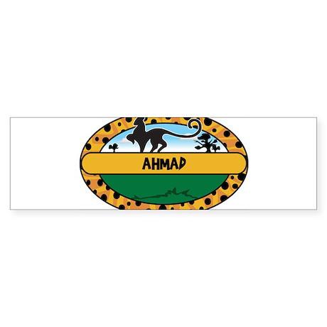 AHMAD - safari Bumper Sticker