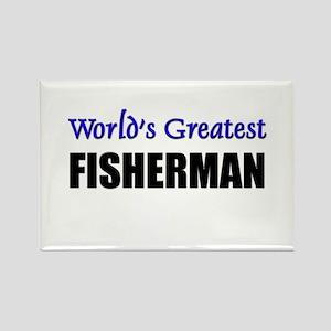 Worlds Greatest FISHERMAN Rectangle Magnet