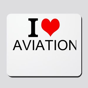 I Love Aviation Mousepad