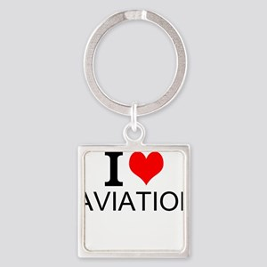 I Love Aviation Keychains