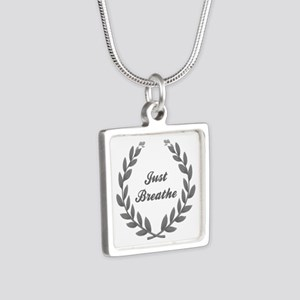 JUST BREATHE Silver Square Necklace