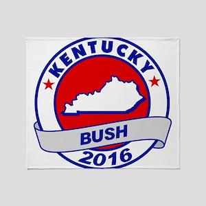Kentucky Jeb Bush 2016 Throw Blanket