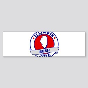 Illinois Jeb Bush 2016 Bumper Sticker