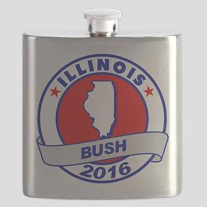 Illinois Jeb Bush 2016 Flask