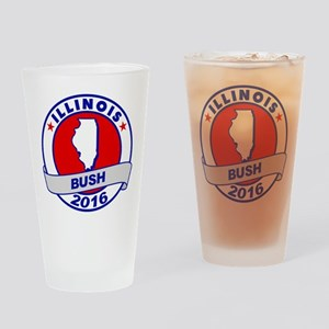Illinois Jeb Bush 2016 Drinking Glass