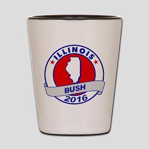 Illinois Jeb Bush 2016 Shot Glass