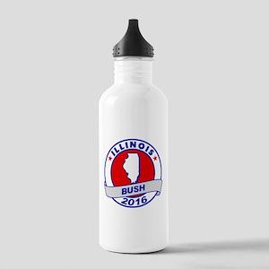 Illinois Jeb Bush 2016 Water Bottle