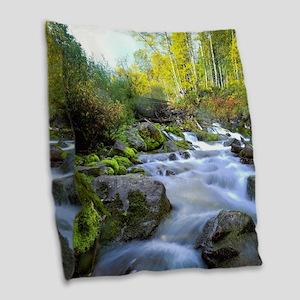 Aspen Waterfall Burlap Throw Pillow