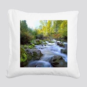 Aspen Waterfall Square Canvas Pillow
