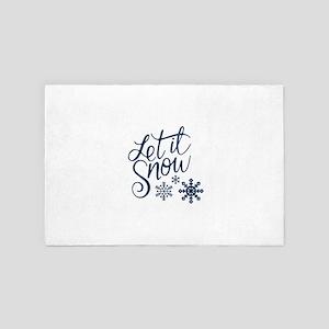 Let it Snow Navy 4' x 6' Rug