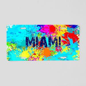 MIAMI BURST Aluminum License Plate