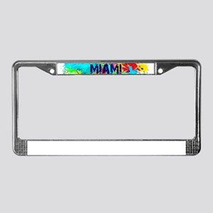 MIAMI BURST License Plate Frame