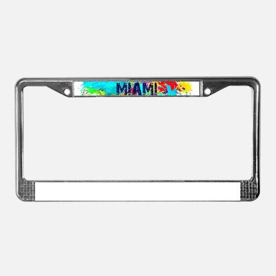 MIAMI BURST License Plate Frame