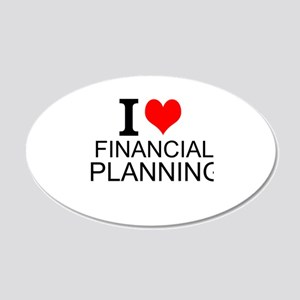 I Love Financial Planning Wall Decal
